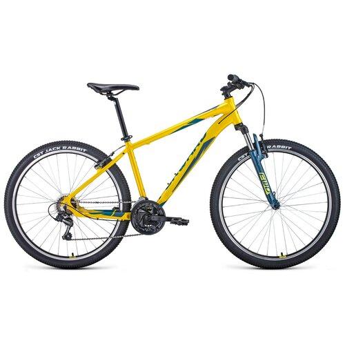 Горный (MTB) велосипед FORWARD APACHE 27,5 1.2 S (2021) желтый/зеленый 19 (требует финальной сборки) горный mtb велосипед forward apache 27 5 1 2 s 2021 желтый зеленый 19 требует финальной сборки