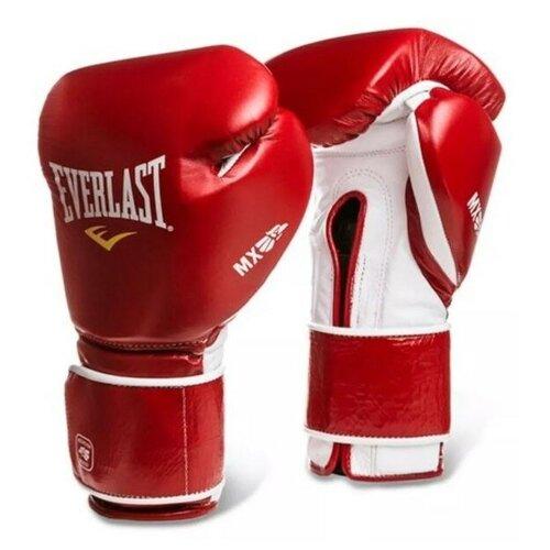 Перчатки Everlast MX Training на липучке 18oz красн.