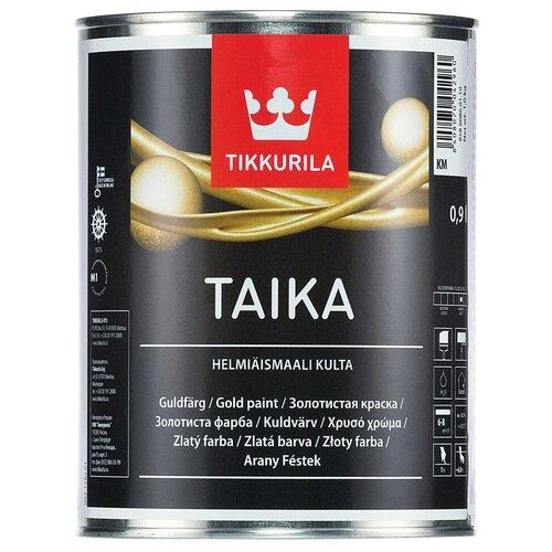 Фото - Краска акриловая Tikkurila Taika Helmiäismaali полуглянцевая KM gold 0.9 л краска акриловая tikkurila luja 40 полуглянцевая прозрачный 9 л