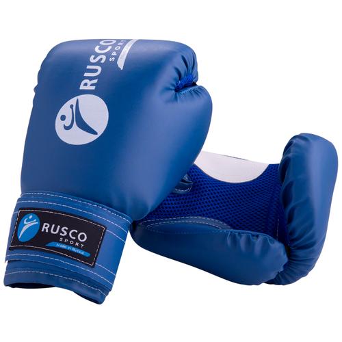 Боксерские перчатки RUSCO SPORT 4-10 oz синий 8 oz