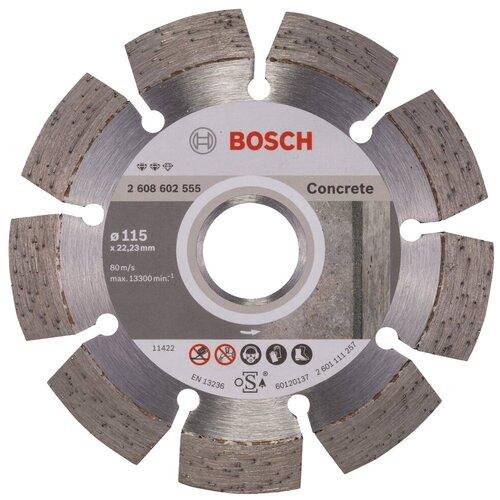 Фото - Диск алмазный отрезной BOSCH Expert for Concrete 2608602555, 115 мм 1 шт. диск алмазный отрезной bosch standard for ceramic 2608602201 115 мм 1 шт