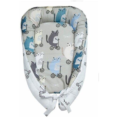 позиционеры для сна amarobaby подушка позиционер для сна кокон гнездышко little baby радуга Позиционер для сна Amarobaby Little Baby велосипедисты