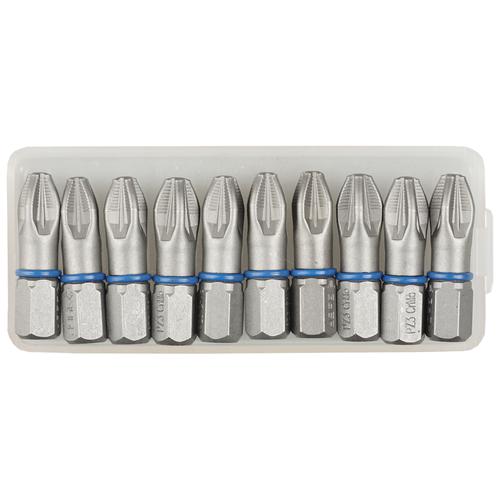 Бит ЗУБР 26013-3-25-10, 10 предм., серый набор бит зубр 26013 3 50 2 2 предм серебристый