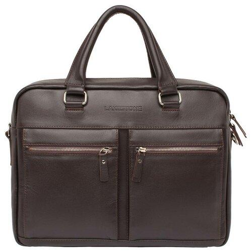 Фото - Деловая сумка для ноутбука Colston Brown мужская кожаная коричневая сумка milano brown 9282 коричневая