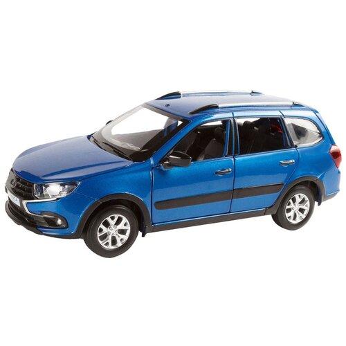 Купить Легковой автомобиль Автопанорама Lada Granta Cross (JB1251207) 1:24, синий, Машинки и техника