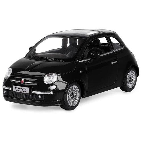 Купить Легковой автомобиль Serinity Toys Fiat 500 (5345DKT) 1:28, 12.5 см, черный, Машинки и техника