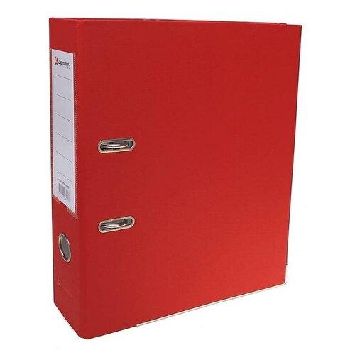 Папка-регистратор А4, 80 мм, PP Lamark, металлический уголок, карман, разобранный, красная, TGS-642495