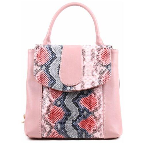 Рюкзак женский Медведково розовый искусственная кожа