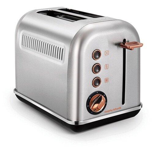 Тостер Morphy Richards 222017, белый/розовое золото тостер morphy richards 222017 белый розовое золото