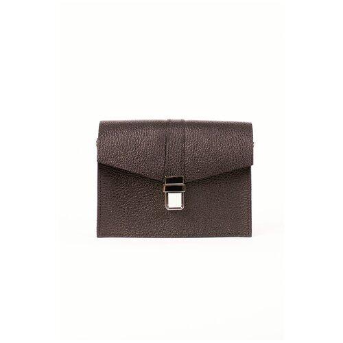Фото - Женская кожаная поясная сумка коричневая A009 brown mini grain Divalli сумка milano brown 9282 коричневая