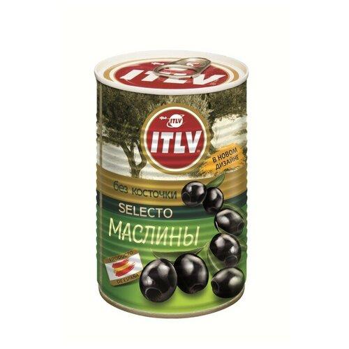 ITLV Маслины черные Selecto без косточки, 425 мл itlv маслины super с косточкой