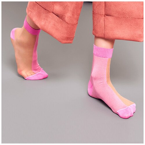 Носки для девушек Hysteria Filippa Nylon Ankle - Beige/Pink 36-41