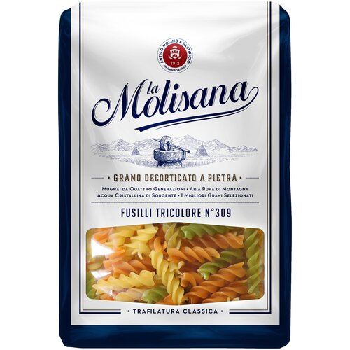 Фото - La Molisana Макароны Fusilli tricolore № 309 с томатами и шпинатом, 500 г la molisana spa макароны rigatoni 31 500 г