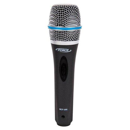 Микрофон FORCE MCF-205, черный/серебристый