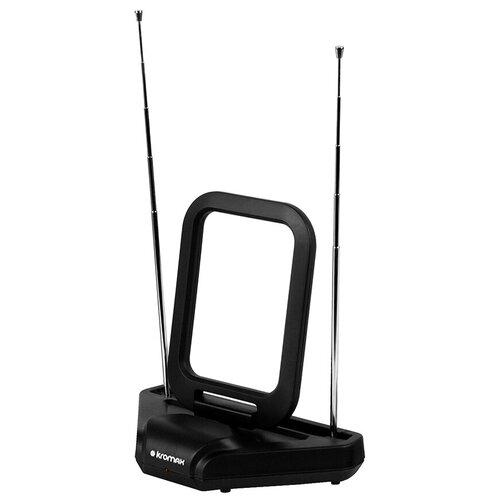Фото - Комнатная DVB-T2 антенна Kromax TV FLAT-03 комнатная антенна kromax flat 02 black