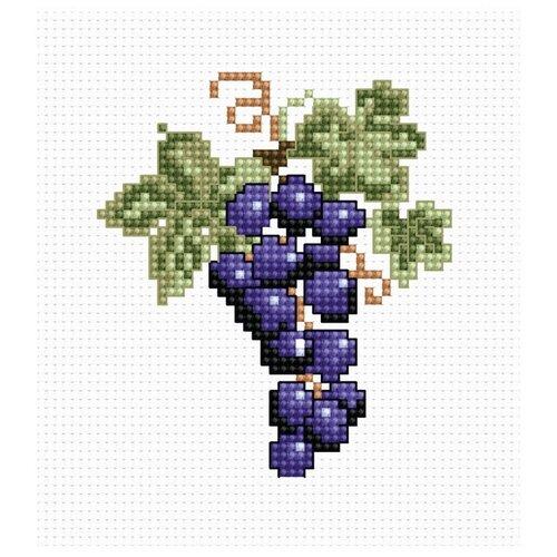 Купить Набор для вышивания «Виноград», 7, 5x8, 5 см, Luca-S, Наборы для вышивания