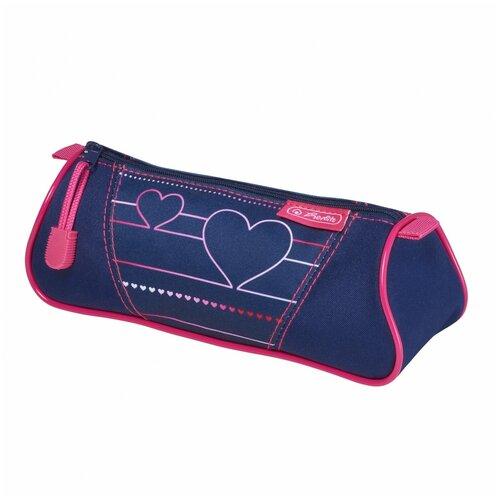 Пенал-косметичка Herlitz TRIANGULAR Heartbeat недорого