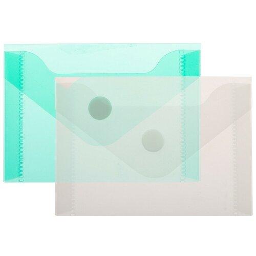 Купить Папка -конверт на кнопке А7 105x74мм 180 мкм ассорти, Attache 20шт.уп., Файлы и папки