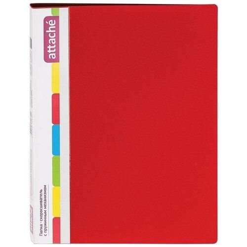 Attache Папка-скоросшиватель с пружинным механизмом Diagonal А4, 600 мкм красный, Файлы и папки  - купить со скидкой