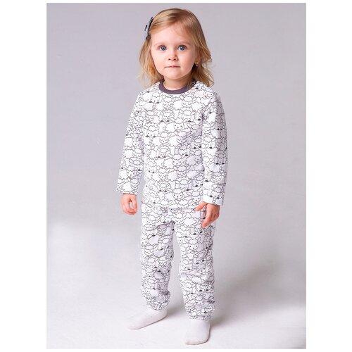 Пижама: Джемпер, брюки КотМарКот, 2691226 (размер 86, цвет Белый) пижама double trouble белый оранжевый 86 размер
