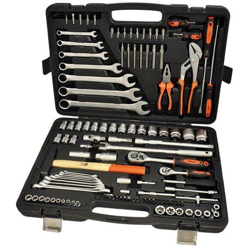 Набор инструментов AVSteel AV-011118, 118 предм., черный/оранжевый набор инструментов avsteel av 011056 56 предм черный оранжевый