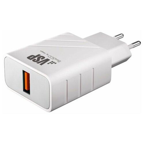 Фото - Сетевое зарядное устройство QC 3.0, белое, BoraSCO сетевое зарядное устройство borasco qc 3 0 белое