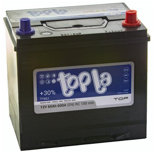 Аккумулятор автомобильный Topla Top JIS 600 А обр. пол. 60 Ач (118861/56068/SMF) АКБ для авто topla аккумулятор легковой topla top jis 45 ач о п b19l