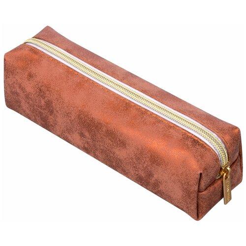 Фото - BRAUBERG Пенал-косметичка Luxury бронзовый пенал косметичка brauberg тайм