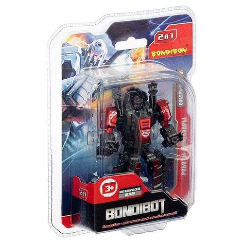 Трансформер BONDIBON 2в1 BONDIBOT BONDIBON робот-тираннозавр, метал. детали, арт. E200 (ВВ5001)