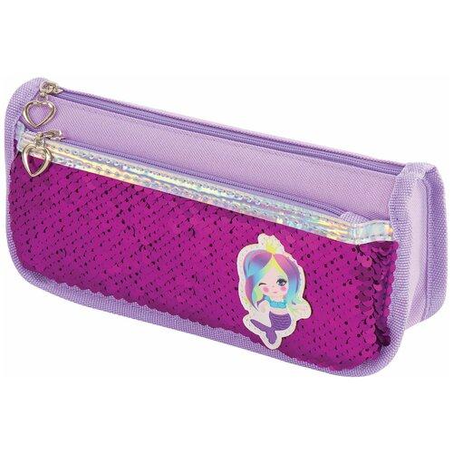 Юнландия Пенал-косметичка Русалка (228977) фиолетовый недорого
