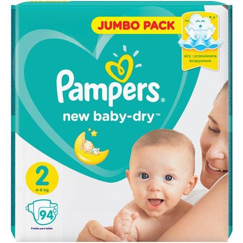 Фото - Pampers подгузники New Baby Dry 2 (4-8 кг), 94 шт. pampers подгузники new baby dry 1 2 5 кг 27 шт