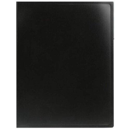 Фото - Attache Папка на 10 файлов А4, пластик 500 мкм черный канцелярия snopake папка с кольцами для файлов а4 32х26 см
