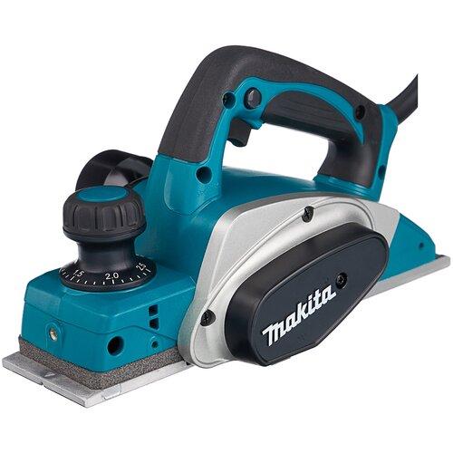 Сетевой электрорубанок Makita KP0800X1, 620 Вт синий/черный/серый сетевой электрорубанок makita 1911b 900 вт 900 вт синий