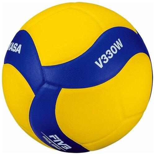 Волейбольный мяч Mikasa V330W желто-синий