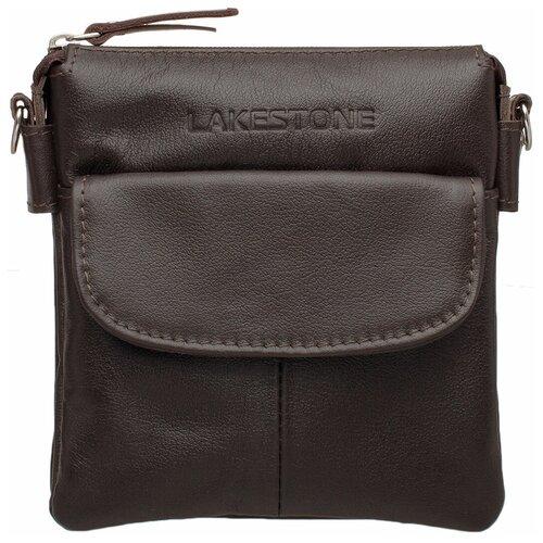 Фото - Небольшая кожаная мужская сумка через плечо Osborne Brown мужская кожаная коричневая сумка milano brown 9282 коричневая