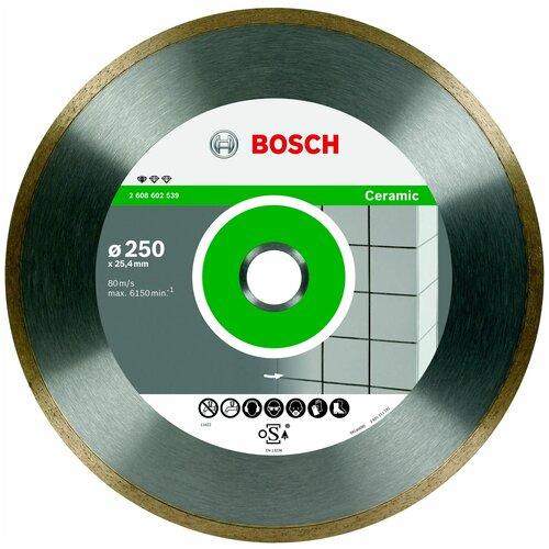 Фото - Диск алмазный отрезной BOSCH Standard for Ceramic 2608602539, 250 мм 1 шт. диск алмазный отрезной bosch standard for ceramic 2608602201 115 мм 1 шт
