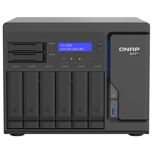 Сетевой накопитель (NAS) QNAP TS-h886-D1622-16G