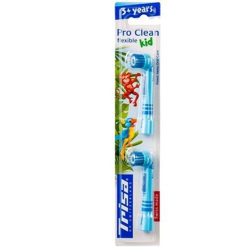 Сменные насадки для электрических зубных щеток Trisa для моделей Clean, 2 шт.(674494-Blue)