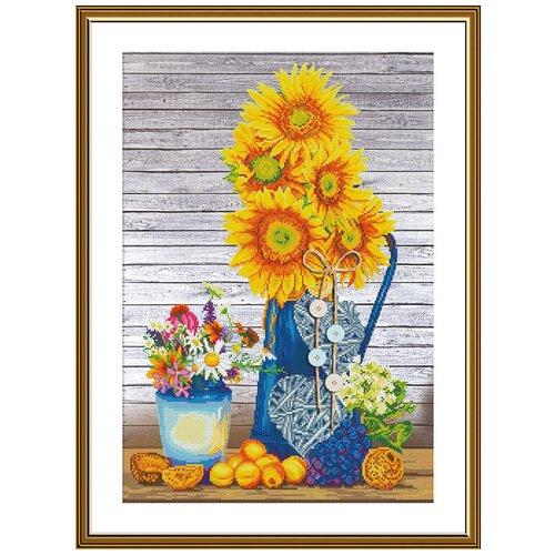 Купить Набор для вышивания Нова Слобода СР №26 2257 Солнце в вазе 28 х 42 см 1 шт., NOVA SLOBODA, Наборы для вышивания