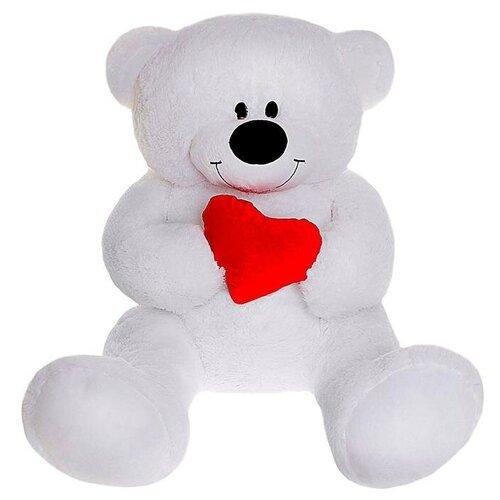 Бока Мягкая игрушка «Мишка» с сердцем, 105 см, цвет белый
