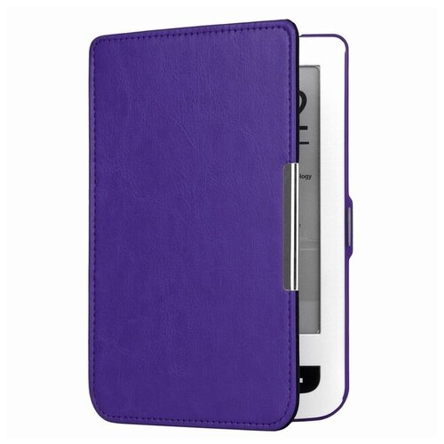 Чехол-обложка футляр MyPads для PocketBook 515 mini из качественной эко-кожи тонкий с магнитной застежкой фиолетовый
