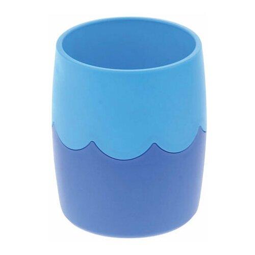 Купить Подставка-органайзер СТАММ (стакан для ручек), сине-голубая, непрозрачная, СН505, Канцелярские наборы