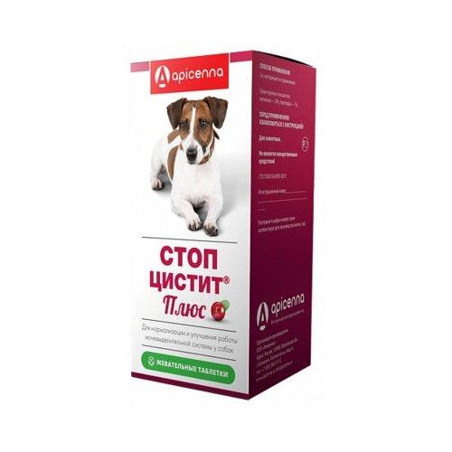 Apicenna Стоп-Цистит для собак жевательные таблетки, 40 шт по 1000 мг, 0,020 кг