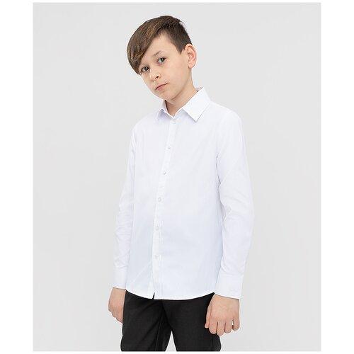 Рубашка Button Blue размер 128, 0205 белый