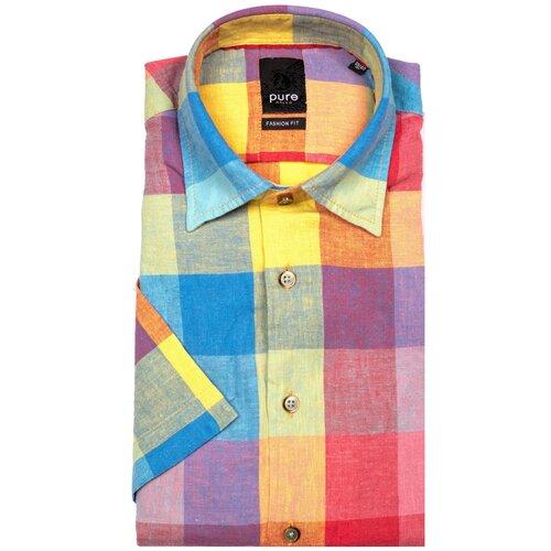 Рубашка pure размер M голубой/желтый/красный