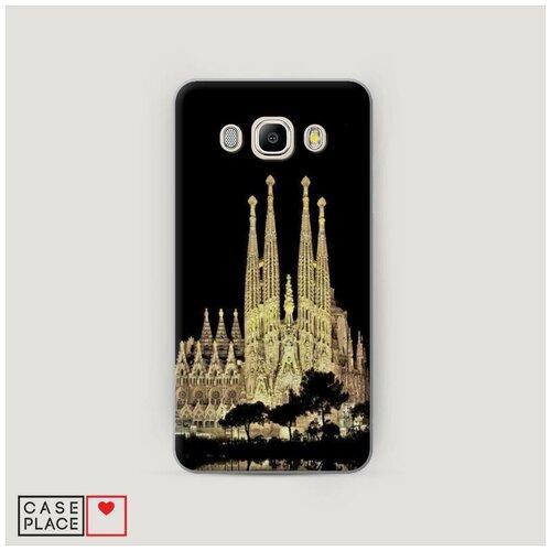 Чехол Пластиковый Samsung Galaxy J5 2016 Храм святого семейства в Барселоне 2