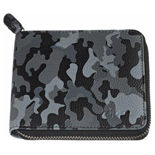 Фото - Кошелёк ZIPPO, серо-чёрный камуфляж, натуральная кожа, 12×2×10,5 см портмоне zippo серо чёрный камуфляж натуральная кожа 11 2x2x8 2 см