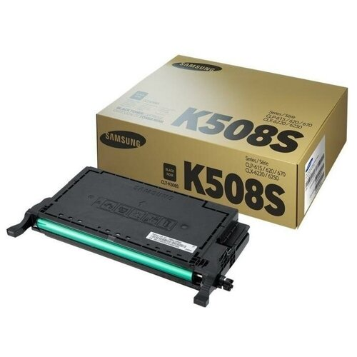 Фото - Samsung CLT-K508S (SU200A) Картридж оригинальный черный Black 2K для CLP-620ND CLP-620, CLP-670ND CLP-670, CLX-6220FX CLX-6220, CLX-6250 картридж samsung su535a clt y508l для samsung clp 620 670 clx 6220 желтый 4000стр