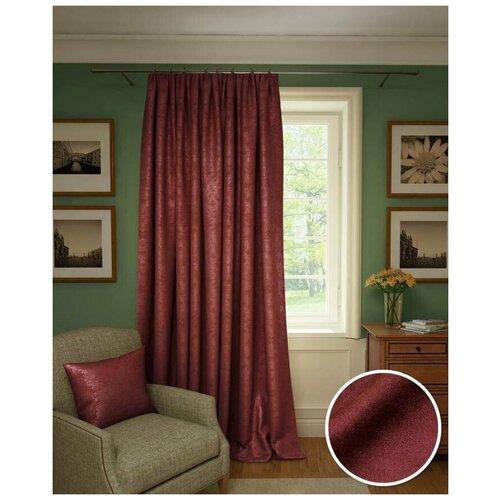 Классические шторы Jorja Цвет: Красный Рубин