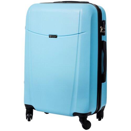 чемодан bonle премиум abs пластик салатовый размер s 55 см 37 л Чемодан Bonle, премиум ABS-пластик, Небесный, размер M, 65 см, 62 л